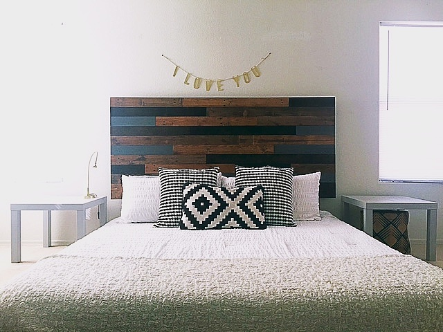 Diy Pallet Headboard Diy Average Joe